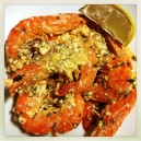 Prawns With Peri Peri, Garlic, Feta & Parsely