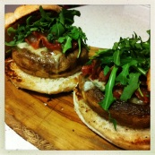 Gorgonzola, Bacon & Mushroom Steak Style Sandwich