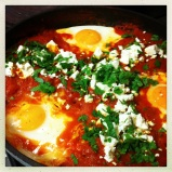 Moroccan Eggs with Tomatoes, Cumin & Feta