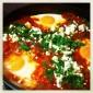 Moroccan Eggs with Tomatoes, Cumin & Feta